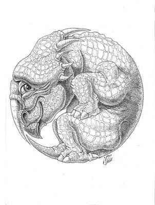 Drawing - Styracosaurus by Victor Molev