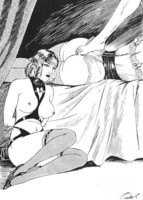 Drawing - Subgirl tied by Carlo