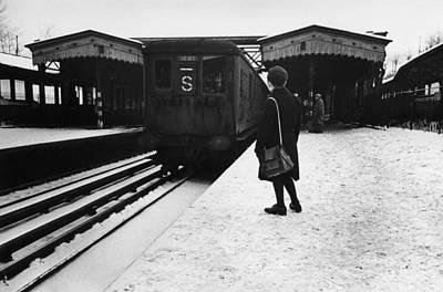 Photograph - Suburban Train by Bert Hardy