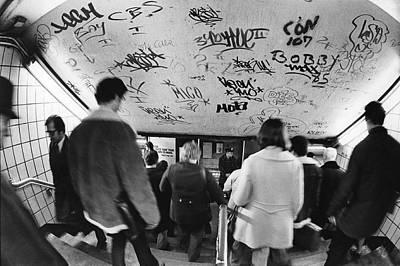 Subway Graffiti Art Print by Fred W. McDarrah