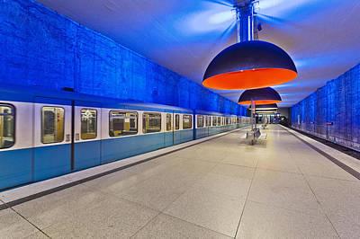 Photograph - Subway Station, Munich, Bavaria, Germany by Felbert+eickenberg / Stock4b