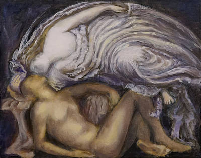 Painting - Succubus - after G.F. Watts by Linda Falorio