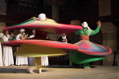 Sufi Dancers At A Traditional Show In Art Print by David Clapp