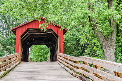 Sugar Creek Covered Bridge Art Print