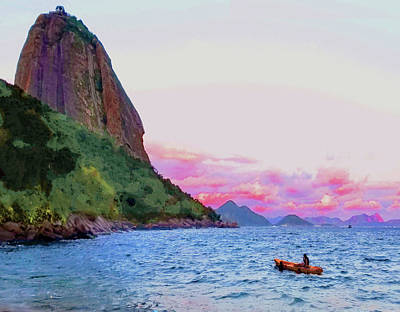 Photograph - Sugar Loaf Mountain And Sea by Roger Bester