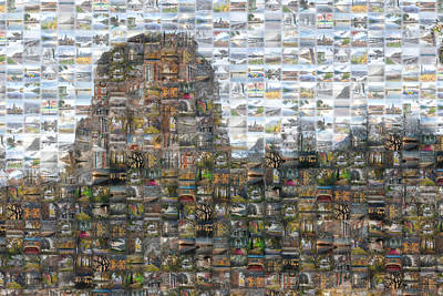 Digital Art - Sugarloaf Winona Minnesota Mosaic by Kari Yearous