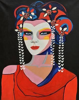 Painting - Geisha Sukiyaya by Lee Wilde-Portraits