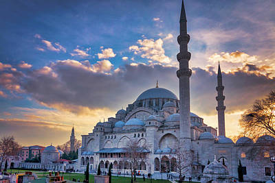Photograph - Suleymaniye Mosque At Sunset  by Fabrizio Troiani