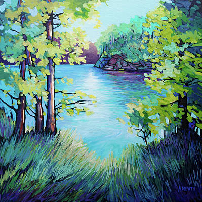 Wall Art - Painting - Summer At The Lake by Alison Newth