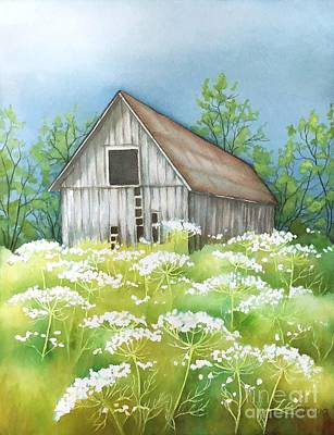 Painting - Summer Barn by Inese Poga