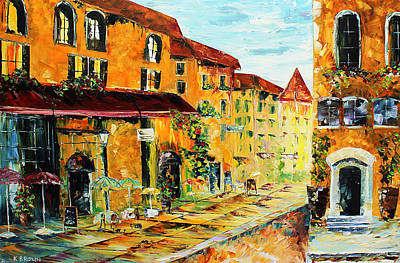 Painting - Summer Cafe by Kevin Brown