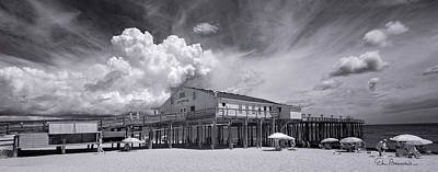 Dan Beauvais Royalty-Free and Rights-Managed Images - Summer Cloud Beyond Kitty Hawk Pier 7813 by Dan Beauvais