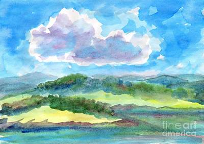Painting - Summer Cloud In The Azure Sky by Dobrotsvet Art