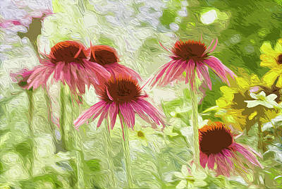 Digital Art - Summer Coneflowers by Garden Gate magazine