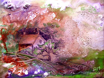 Painting - Summer Cottage by CJ  Rider