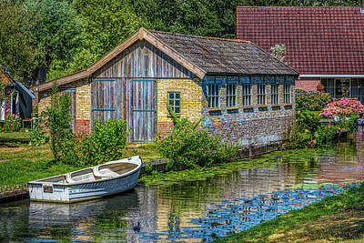 Photograph - Summer Cottage On The River In Hdr Detail by Debra and Dave Vanderlaan