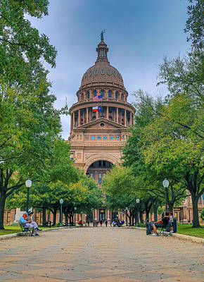 Photograph - Summer Day At The Texas Capitol by Dan Sproul