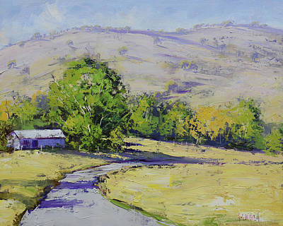 Target Threshold Painterly - Summer day tumut by Graham Gercken
