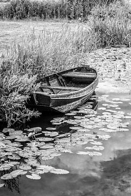 Photograph - Summer Daydreams Black And White by Debra and Dave Vanderlaan