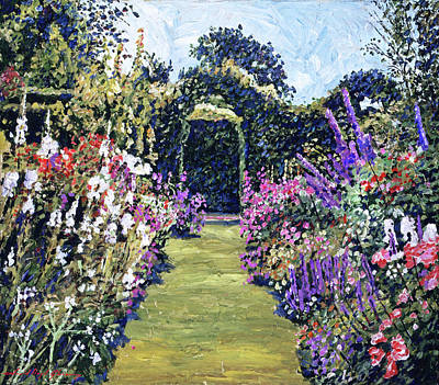 Painting - Summer Days In The Garden by David Lloyd Glover