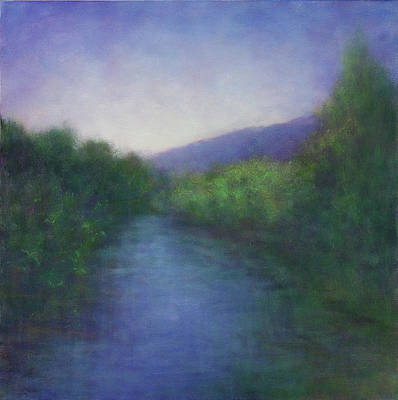 Painting - Summer Dusk On The Russian River by Victoria Veedell