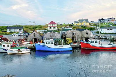 Photograph - Summer Evening In Peggy's Cove by Jean Hutchison