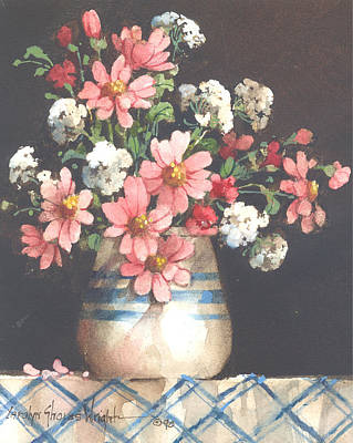 Wall Art - Painting - Summer Flowers by Carolyn Shores Wright