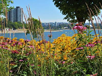 Flower Wall Art - Photograph - Summer Flowers Vancouver 2 by Joan Stratton