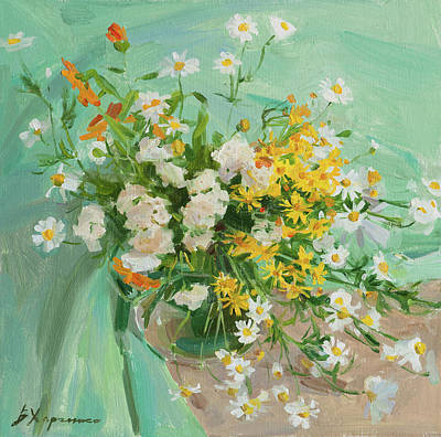 Painting - Summer flowers by Victoria Kharchenko