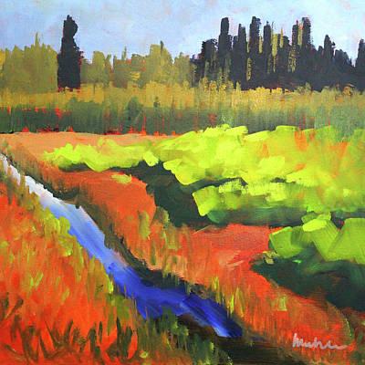 Painting - Summer Garden by Nancy Merkle