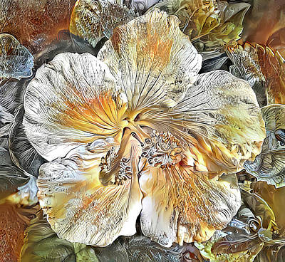 Photograph - Autumn Hibiscus by HH Photography of Florida