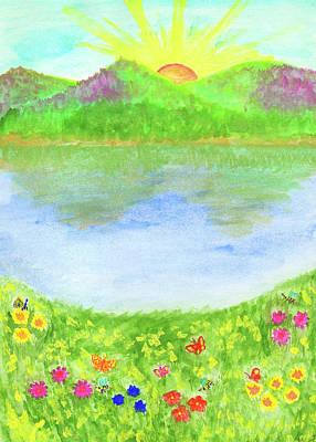 Painting - Summer Illustration by Irina Dobrotsvet