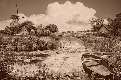 Photograph - Summer In Holland In Sepia Tones by Debra and Dave Vanderlaan