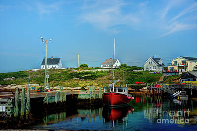 Photograph - Summer In Peggy's Cove by Jean Hutchison