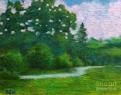Painting - Green Summer  by Wonju Hulse