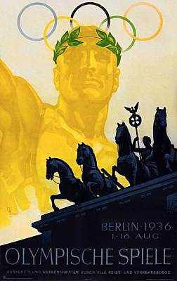 Painting - Summer Olympic Games Berlin 1936 Poster by Franz Wurbel