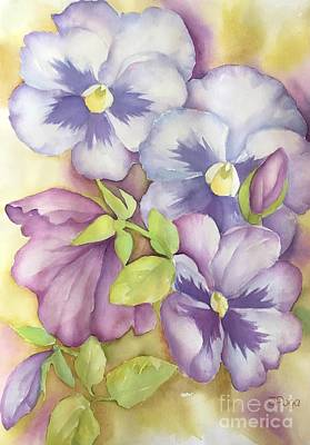 Painting - Summer Pansies by Inese Poga