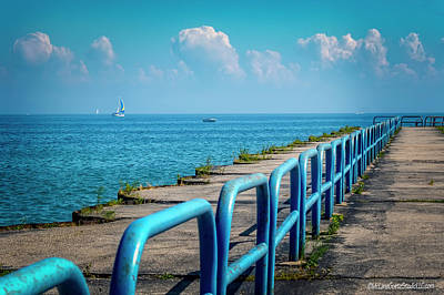 Photograph - Summer Port Sanilac Pier by LeeAnn McLaneGoetz McLaneGoetzStudioLLCcom