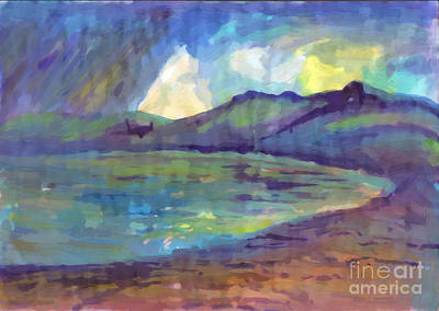 Painting - Summer Rain On The Lake. Oil Painting by Irina Dobrotsvet