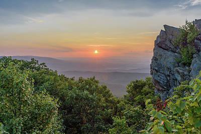 Photograph - Summer Sunset At Humpback Rocks by Doug Ash