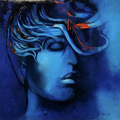 Painting - Summer Night Feelings by Grus Lindgren