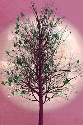 Digital Art - Summer Tree At Daybreak by Debra and Dave Vanderlaan