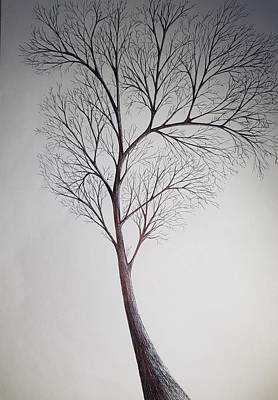 Drawings Royalty Free Images - Summer tree Royalty-Free Image by Giuseppe Epifani