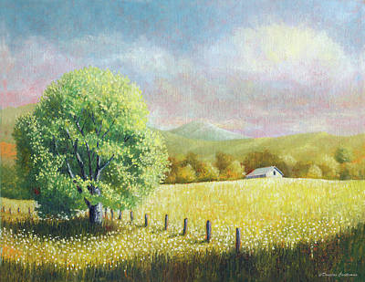 Painting - Summer Tree With Farmhouse by Douglas Castleman