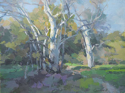 Painting - Summer Trees by Harvey Cusworth