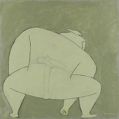 Sports Paintings - Sumo Wrestler by Ben Gertsberg
