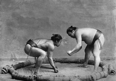 Photograph - Sumo Wrestlers by Henry Guttmann Collection