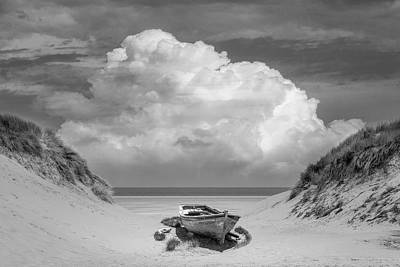Photograph - Sun Beached In Black And White by Debra and Dave Vanderlaan