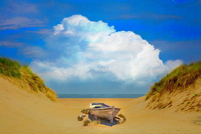 Photograph - Sun Beached Painting by Debra and Dave Vanderlaan