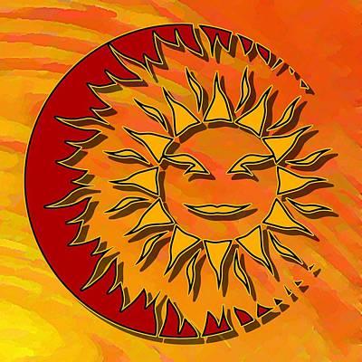 Digital Art - Sun Eclipsing The Moon by David Manlove